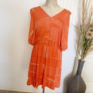 Castlon dress orange soft knit flowy size large